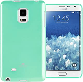 GOOSPERY Marlang Marlang Galaxy Note 4 Edge Case - Mint Green, Free Screen Protector [Slim Fit] TPU Case [Flexible] Pearl Jelly [Protection] Bumper Cover for Galaxy Note4Edge, NT4E-JEL/SP-MNT