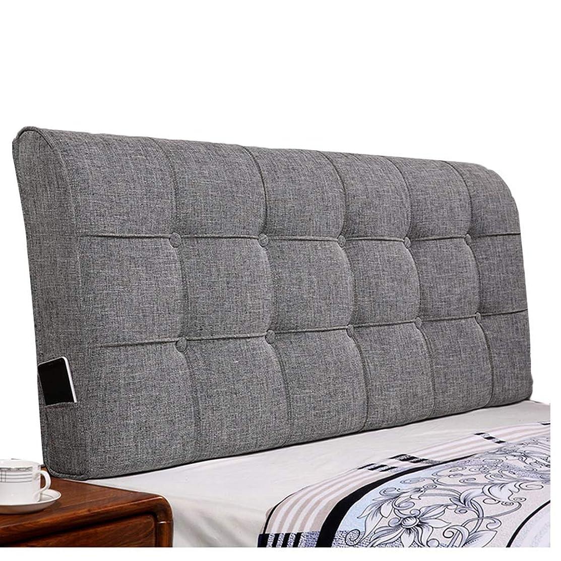 興味入り口サージWZBヘッドボードクッション快適な耐摩耗性衝突防止枕サポートウエスト洗える、3色、6サイズ(色:グレー、サイズ:90x60x12cm)