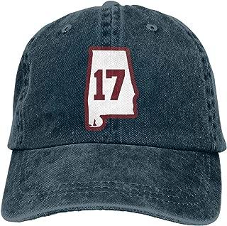 Alabama 17 Crimson Classic Men Women Adjustable Baseball Hats Dad Cap Plain Hat