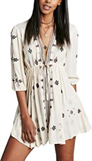 2ba71d01ac31a Free People Womens Star Gazer Gauze Embroidered Babydoll Dress