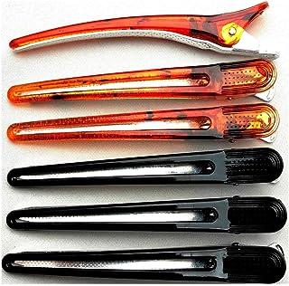 まとめ買い 美容業界 特許 ダッカール 日本製 104mm 6本セット ブラック&ベッコウ