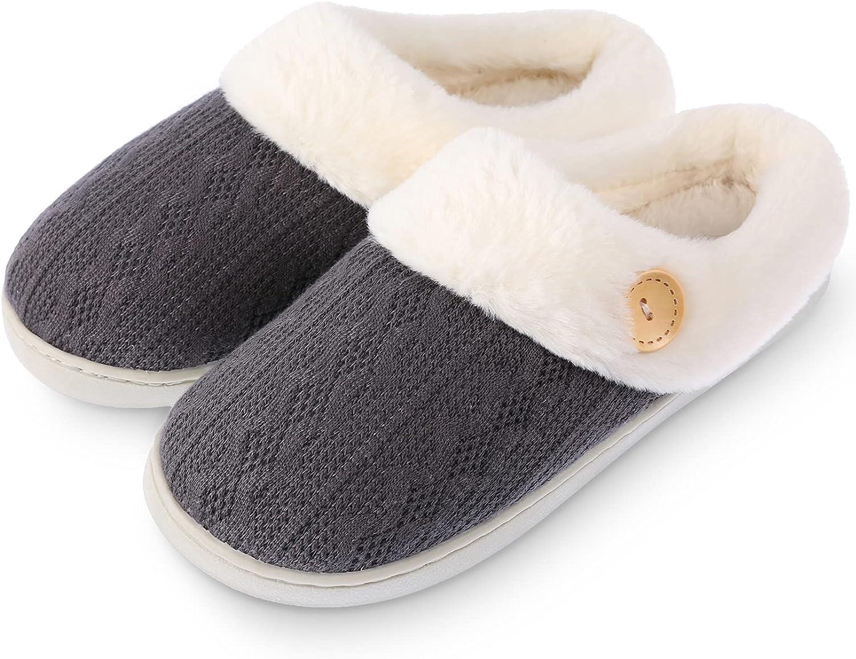 Ekouaer Women's Reservation Slipper Fuzzy House Slippers B Comfy Memory Foam Regular discount