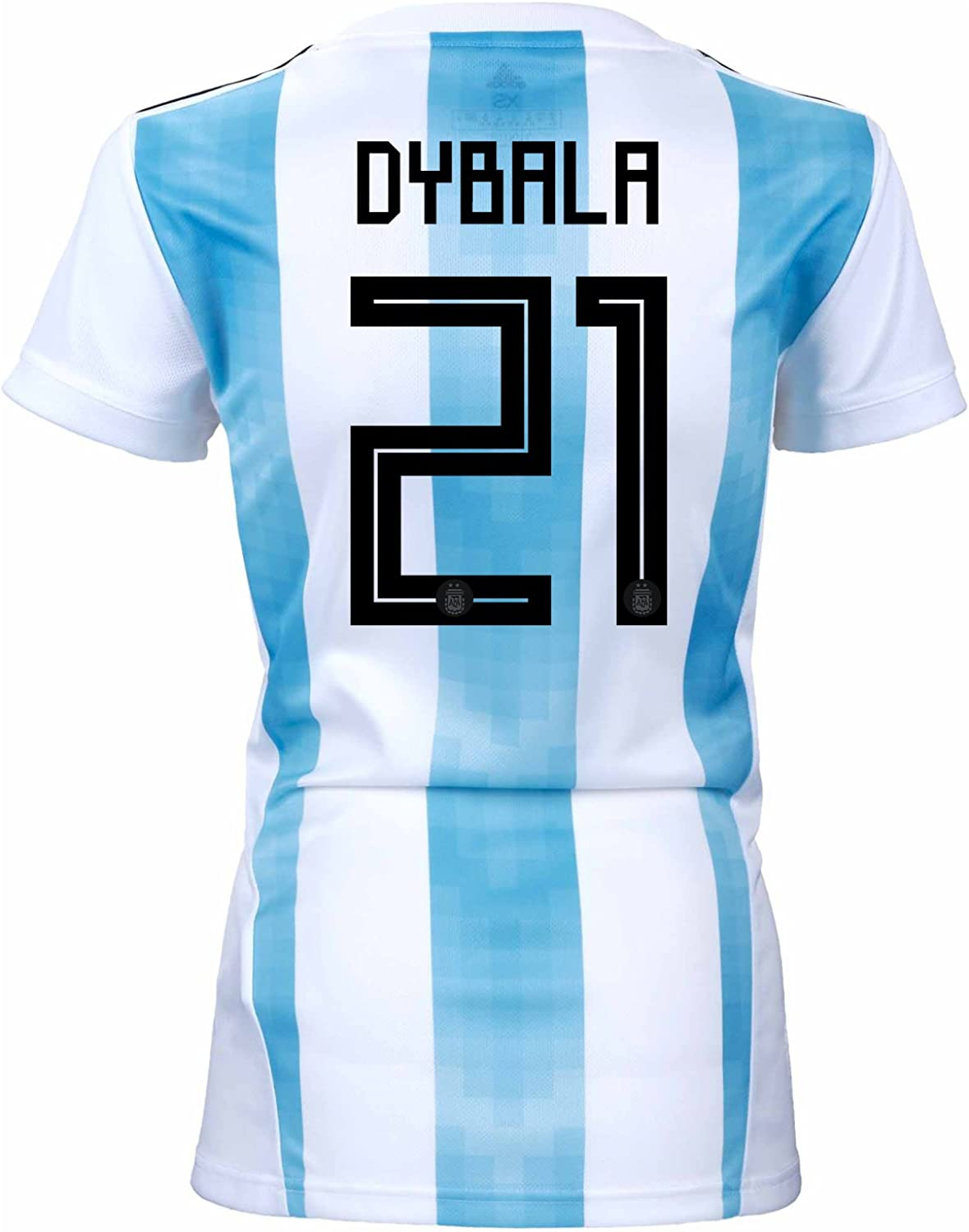 Adidas Dybala  21 silverina Home Women's Soccer Jersey World Cup Russia 2018