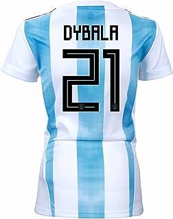 Dybala #21 Argentina Home - Camiseta de fútbol para Mujer, diseño de la Copa del Mundo Rusia 2018