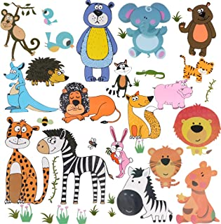 AriTan Forest Animals Window Stickers for Kids Boys and Girls,Double Sided No Glue Flexible Reusable Clings,Decorations Ju...