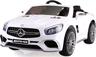 TOBBI Licensed Mercedes Benz 12V Kids Ride On Car with Remote Control MP3 in White