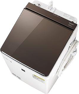 シャープ 洗濯機 洗濯乾燥機 ガラストップ 穴なし槽 インバーター プラズマクラスター 搭載 ブラウン系 ESPT10D-T