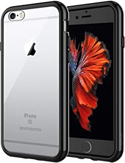 JETech Case for iPhone 6 and iPhone 6s, Shock-Absorption Bumper Cover, Anti-Scratch Clear Back, Black