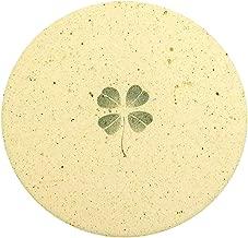 立風屋 珪藻土コースター 四葉シリーズ グリーン 1枚 幸運の証 四つ葉 の クローバー RPCS-WT-07201-01