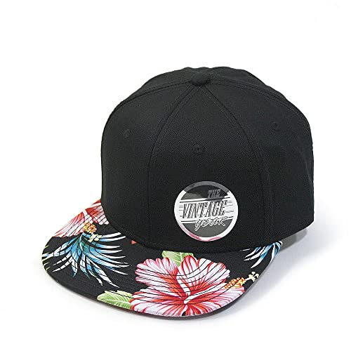 Premium Floral Hawaiian Cotton Twill Adjustable Snapback Baseball Caps 85f65a9d79e
