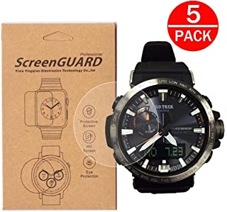 [5-Pack] For Casio PRW-60 Watch Screen Protector,Full Coverage Screen Protector for PRW-60 Watch HD Clear Anti-Bubble and Anti-Scratch