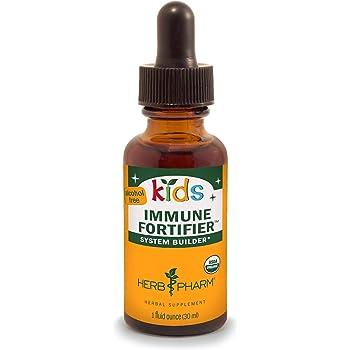 Herb Pharm Kids Certified-Organic Alcohol-Free Immune Fortifier Liquid Herbal Formula, 1 Ounce (FKFORT01)