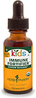 Herb Pharm Kids Certified-Organic Alcohol-Free Immune Fortifier Liquid Herbal Formula, 1 Ounce (FKFORT01)