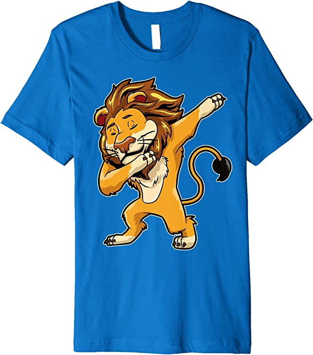 Dabbing Lion T Shirt Meme Print Dab Cat Dance T Shirt Lions