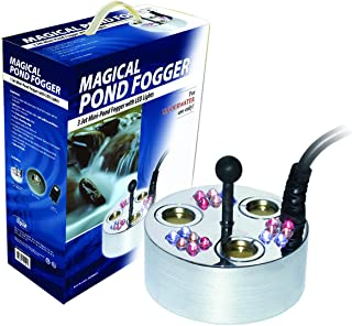 Alpine Corporation Super Pond Fogger with Floating Ring and LED Lights - Outdoor Decor Accessory - Great for Fountains, Ponds, Waterfalls