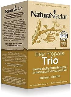 NaturaNectar Bee Proplis Trio, Vegetable Capsules, 60 Count
