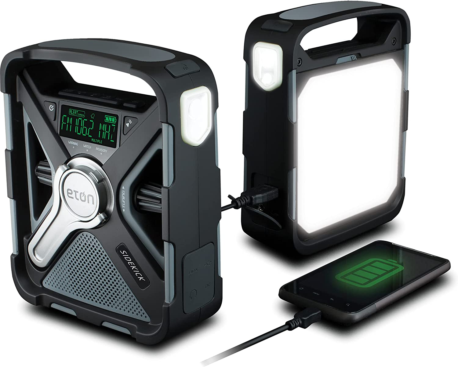 Amazon.com: Eton Ultimate Camping AM/FM/NOAA Radio with S.A.M.E Technology,  Smartphone Charging, Bluetooth, Giant Ambient Light and Solar Panel,  NFRX5SIDEKICK : Everything Else