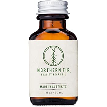 Northern Fir Beard Oil  - All Natural Leave in Conditioner with Argan and Jojoba Oils - Softens and Promotes Healthy Beard & Mustache Growth for Men – 1 oz