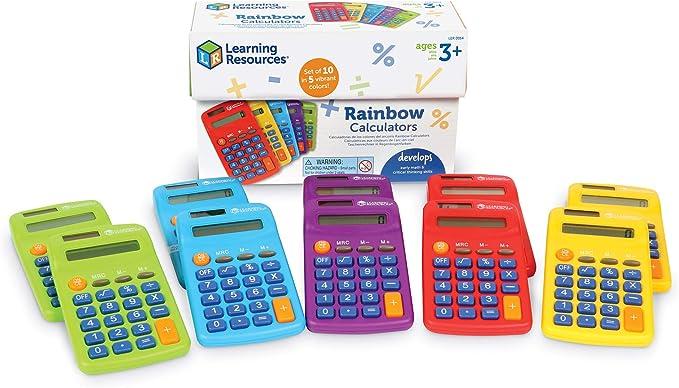 16 opinioni per Calcolatrici Rainbow di Learning Resources