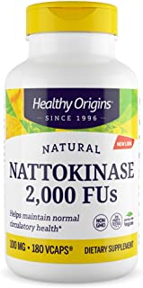 Healthy Origins Nattokinase 2, 000 FU's Multi Vitamins, 100 Mg, 180 count