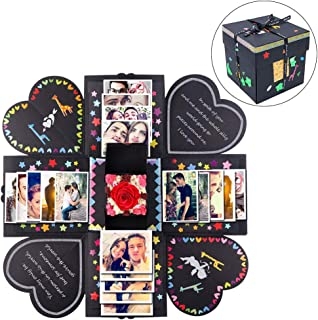 AerWo DIY Creative Explosion Gift Box, Surprise Picture Box Photo Album Gift with Accessories Kit for Mother`s Day Valentines as Galentine`s Gift About Birthday Love Anniversary Wedding Gifts