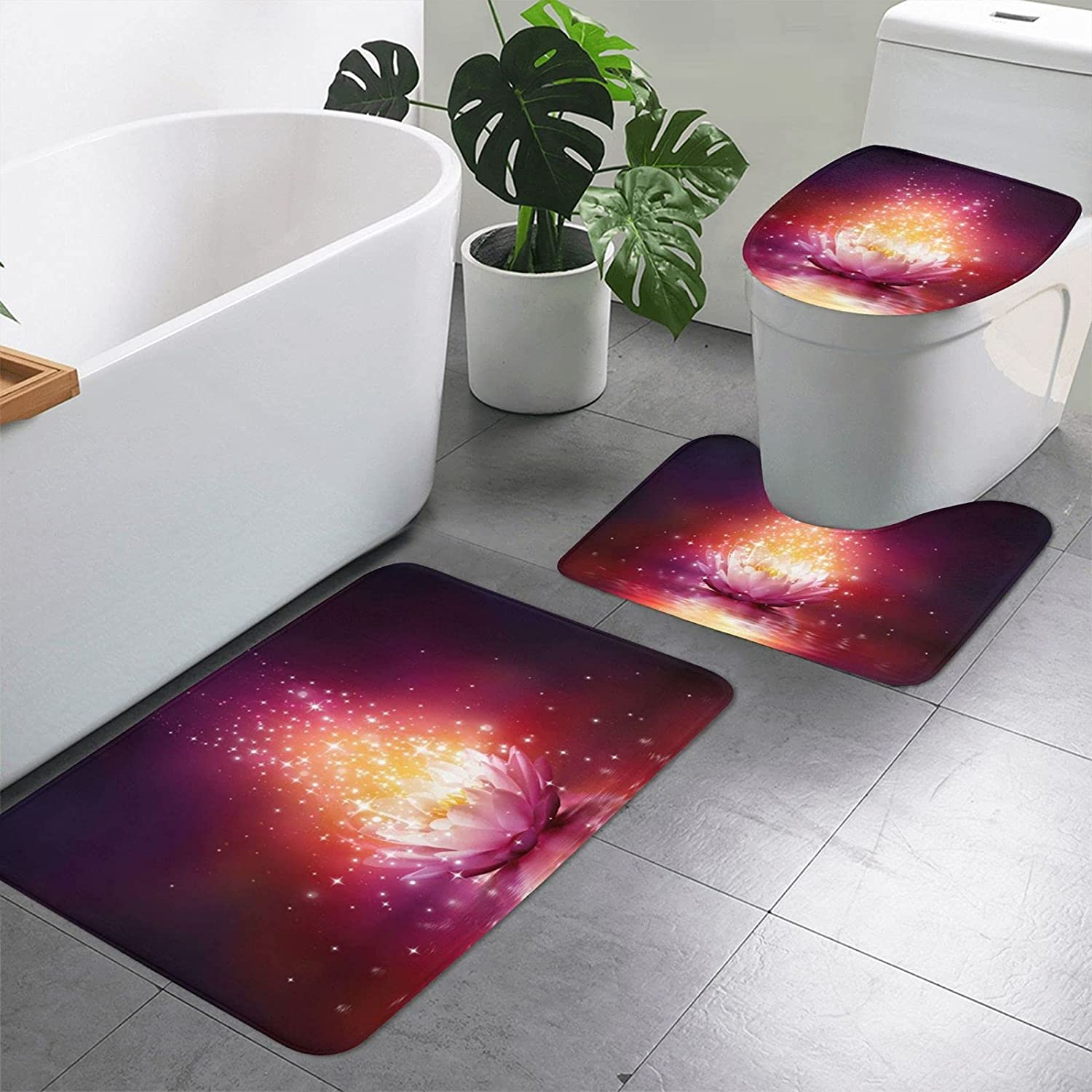 3 Pieces Bathroom Rug Set Includes San Jose Mall 19.7 Inches 15.7 price U-Shaped x