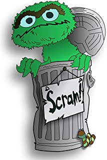 Sesame Street Oscar The Grouch Iron On Transfer for T-Shirts & Other Light Color Fabrics #4 Divine Bovinity