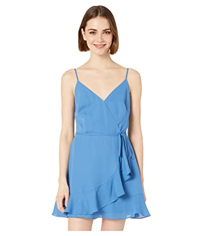 Jack by BB Dakota Almost Wrapped Wrap Dress (Sea Blue) Women