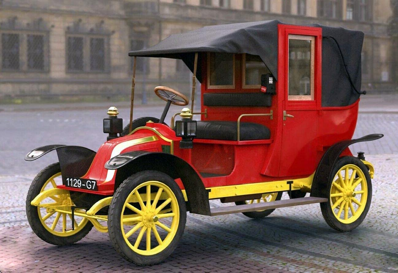 Type AG 1910 Year Paris Taxi 1 67% OFF of fixed price Scale Max 69% OFF Kit Model Plastic 24 ICM