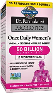 Garden of Life Dr. Formulated Probiotics for Women, Once Daily Women's Probiotics 50 Billion CFU Guaranteed and Prebiotic ...