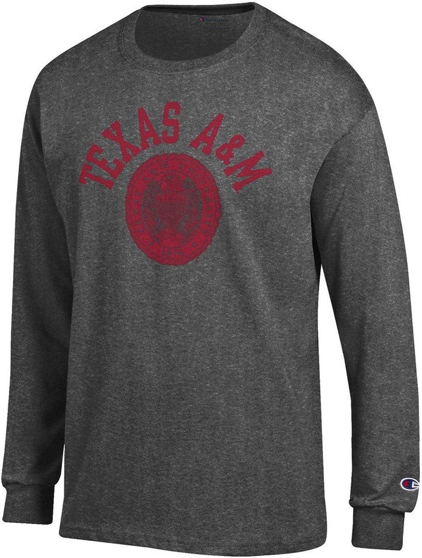 Texas A&M Aggies Long Sleeve Tshirt Charcoal