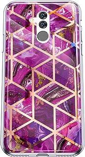 Felfy Kompatibel med Huawei Mate 20 Lite skal marmor Case Cover Cover Cover Cover mjuk TPU silikon mobiltelefonfodral halk...