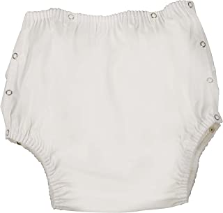 DMI Incontinence Pants to Prevent Leakage, for Men, Women and Children, Large 38 to 44 Inches, White
