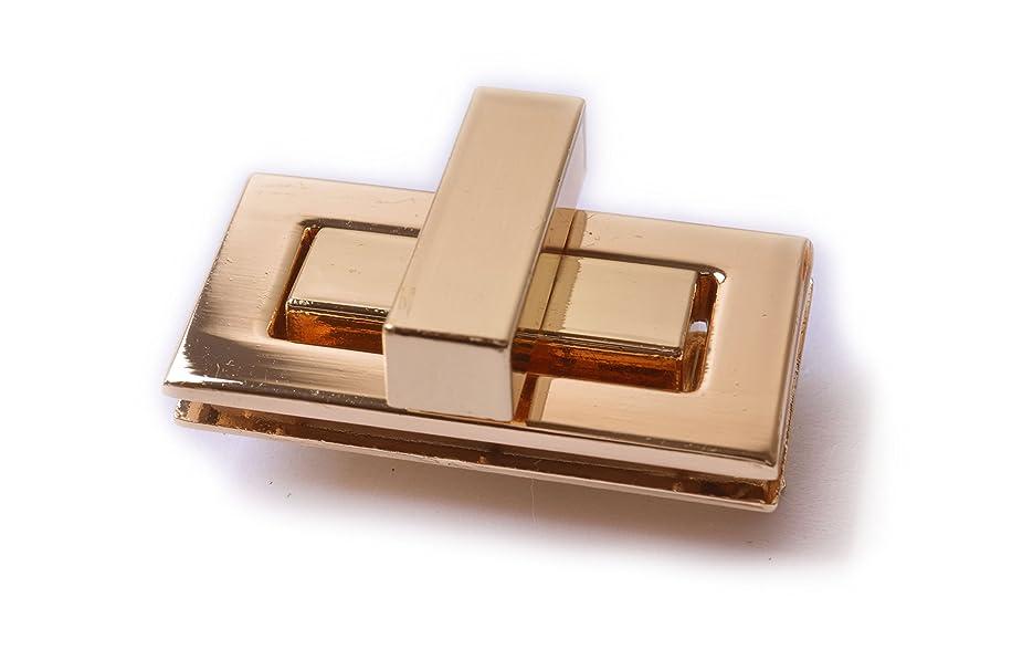 Bobeey 2sets 43x22mm Rectangle Twist Turn Locks,Rectangle Purses Locks Clutches Closures,Metal Twist Locks Purse Closure Turn Locks BBL7 (Light Gold, M)