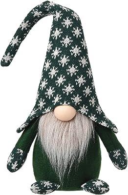 Handmade Christmas Plush Gnomes Home Tomte Gnome for All Seasons Swedish Dwarf Figurine Coffee Corner Decorations 16 Inches (Green)