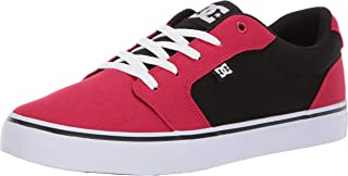 DC Men's Anvil TX Skate Shoe, red/Black, 8.5 M US
