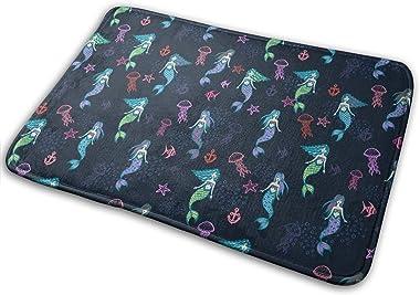 Little Cute Mermaids Carpet Non-Slip Welcome Front Doormat Entryway Carpet Washable Outdoor Indoor Mat Room Rug 15.7 X 23.6 i