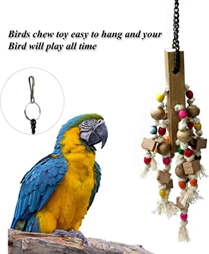 Jainsons Pet Products Wood and Sisal Twine Medium Bird Toy for Parrots, and pet Birds.