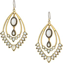 Lucky Brand - Set Stone Statement Earrings