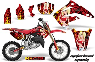 AMR Racing MX Dirt Bike Graphic Kit Sticker Decals Compatible with Honda CR85 2003-2007 - Motorhead Mandy Red