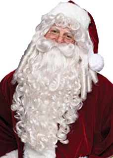 Super Deluxe Santa Claus Wig and Beard Set Costume Accessory