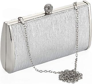 Clare Embossed Metal Croco Clutch Purse Cocktail Wedding Party Handbag Women Evening bag