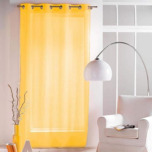 in rete semitrasparente attacco ad occhiello//asola tenda a pannello Arancione e bianco 147 x 229 cm Alan Symonds
