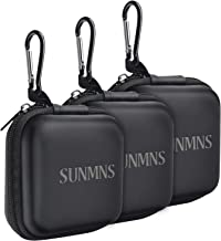 SUNMNS 3 Pieces Headphone Case Earphone Storage Bags Compatible for Wireless Beats Bose Earbuds, Airpods, Bluetooth Sport Headphone with Carabiners