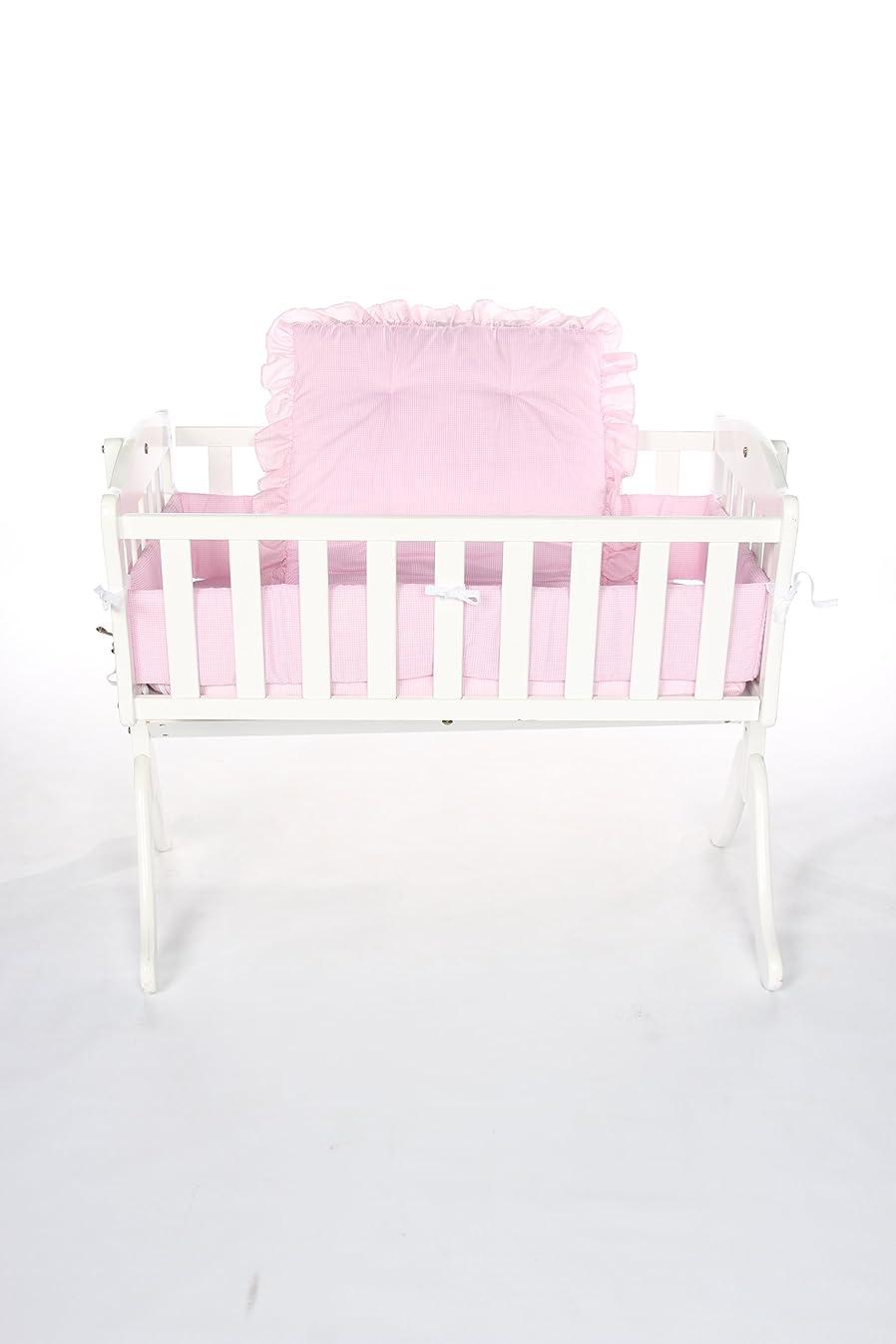 Baby Doll Bedding Gingham Cradle Set, Pink