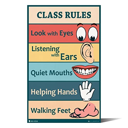 graphic relating to Kindergarten Classroom Rules Printable named Clroom Laws: