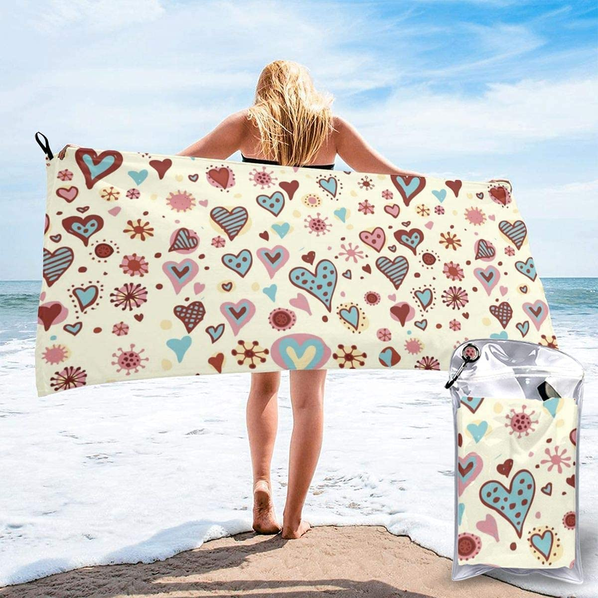 Quantity limited Wild Deer Microfiber Beach Towel T Super Absorbent Drying Mail order Quick