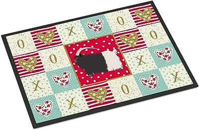 Caroline's Treasures Welsh Black-Necked Goat Love Indoor or Outdoor Mat 24x36 doormats, Multicolor