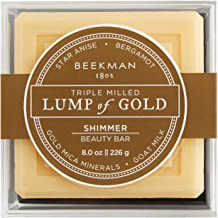 product image for Beekman 1802 - Lump of Gold Bar Soap - Moisturizing Triple Milled Soap with Goat Milk - Naturally Rich in Lactic Acid & Vitamins, Great for All Skin Types - Cruelty-Free Bodycare - 8 oz