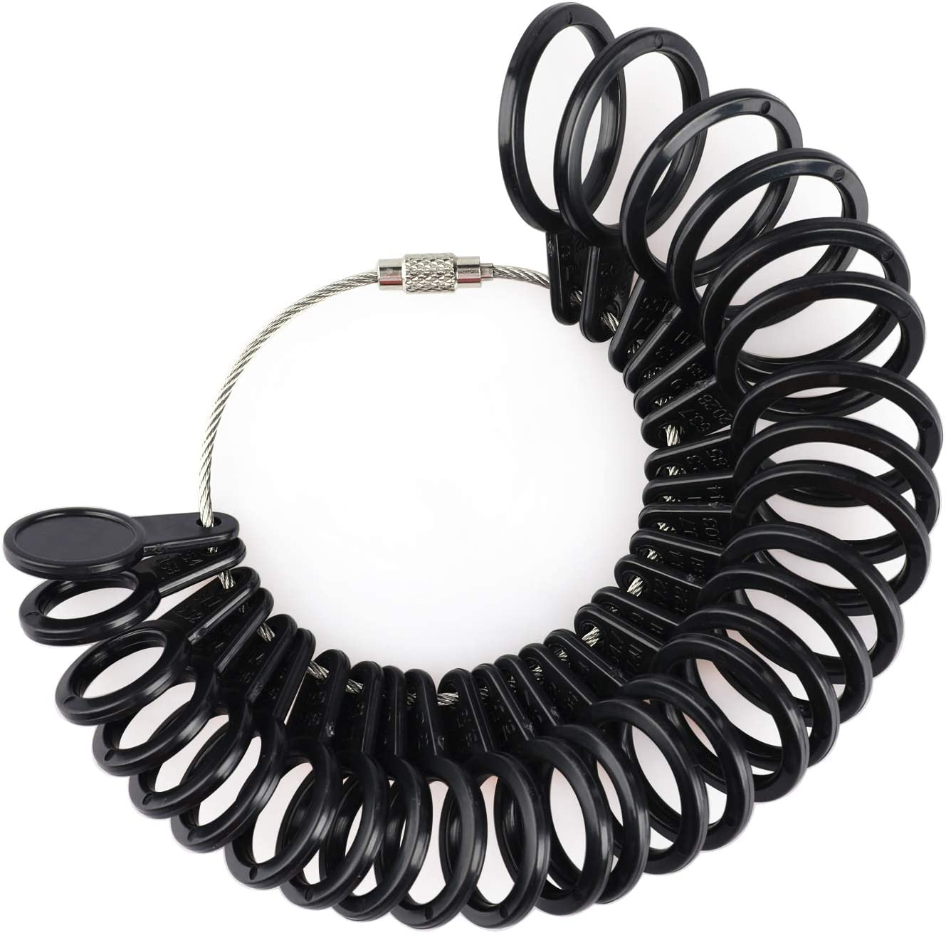 Pupuka Ring Sizer US Size 1-13 Half with OFFicial mail order Black Time sale Meas Plastic